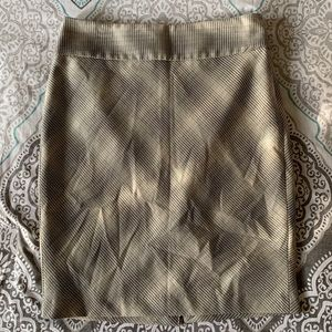 Tan Fitted Pencil Skirt